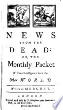 News from the Dead  Or  the Monthly Packet of True Intelligence from the Other World
