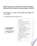 Water Quality in the Red River of the North Basin  Minnesota  North Dakota  and South Dakota  1992 95