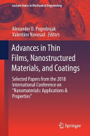 Advances in Thin Films  Nanostructured Materials  and Coatings