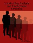 Handwriting Analysis and Employment Screening
