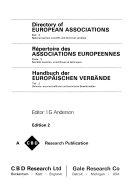Directory of European Associations: National learned, scientific and technical societies