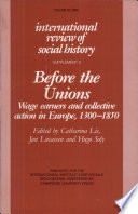 Before the Unions