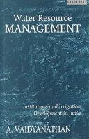 Water Resource Management Book
