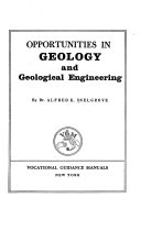 Opportunities in Geology and Geological Engineering