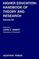 Higher Education  Handbook of Theory and Research 12