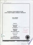 National Evaluation of the Even Start Family Literacy Program Book