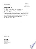Science Plan for the Alaska SAR Facility Program Book