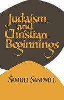 Judaism and Christian Beginnings