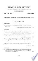 Temple Law Review  , Band 73