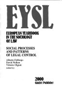 European Yearbook In The Sociology Of Law