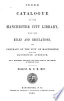 Index Catalogue of the Manchester City Library