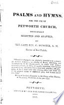 Psalms and Hymns, for the Use of Petworth Church