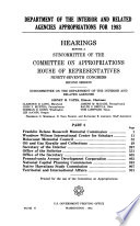 Department of the Interior and Related Agencies Appropriations for 1983