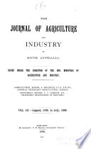 Journal of Agriculture  South Australia