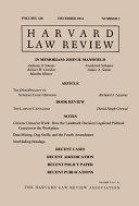 Harvard Law Review  Volume 128  Number 2   December 2014