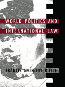 World Politics and International Law Pdf/ePub eBook