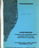 Conference  Pollution of the Navigable Waters of Eastern New Jersey  Shark River to Cape May
