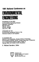 1981 National Conference on Environmental Engineering Book