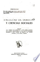 Revista de la Facultad de Derecho y Ciencias Sociales