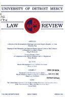 University of Detroit Mercy Law Review Book PDF