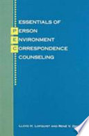 Essentials of Person Environment Correspondence Counseling