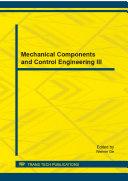 Mechanical Components and Control Engineering III