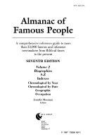 Almanac of Famous People  Indexes