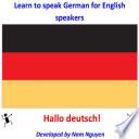 Learn to Speak German for English Speakers
