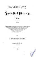 Swartz & Co.'s Springfield Directory ...