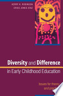 Cover of Diversity And Difference In Early Childhood Education: Issues For Theory And Practice