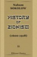 History of Zionism  1600 1918