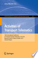 Activities Of Transport Telematics Book PDF