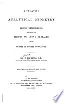 A Treatise on Analytical Geometry of Tree Dimensions