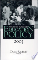 Brookings Papers on Education Policy  2003