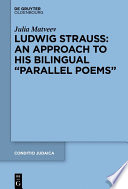 Ludwig Strauss An Approach To His Bilingual Parallel Poems