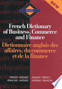 Dictionnaire Anglais Des Affaires Du Commerce Et De La Finance