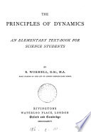 The Principles of Dynamics