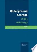 Underground Storage of CO2 and Energy