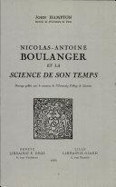 Nicolas-Antoine Boulanger et la science de son temps
