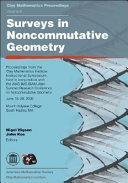 Surveys in Noncommutative Geometry
