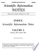 Scientific Information Notes