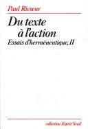 Du texte à l'action. Essais d'herméneutique, t. 2 Pdf/ePub eBook