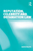 Reputation  Celebrity and Defamation Law