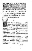 L'Histoire de Dion Cassius de Nycaee..., abbrégée par Xiphilin. Translatee de Grec en François par M. Antoyne Canque...