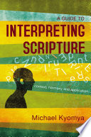 A Guide to Interpreting Scripture Book