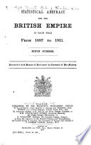 Statistical Abstract for the British Empire ...