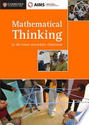 Books - Mathematical Thinking In The Lower Secondary Classroom - Teacher Resource | ISBN 9781316503621