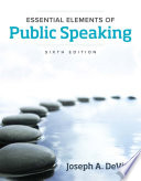 Essential Elements Of Public Speaking  PDF