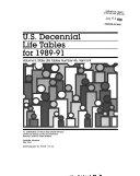 U S Decennial Life Tables For 1989 91 No 46
