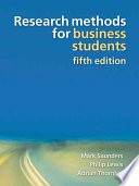 Research Methods for Business Students Book
